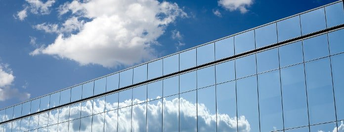 Glass Building Windows Clouds